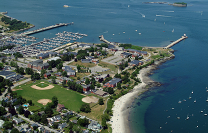 Aerial view of SMCC's South Portland Campus